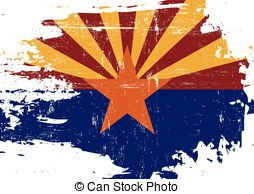 ... Scratched Arizona Flag - A flag of Arizona with a grunge.