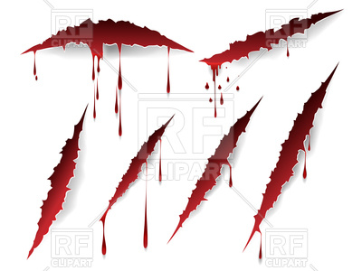 Bloody scratches and blood drops set on white background, 143713, download  royalty-free ClipartLook.com