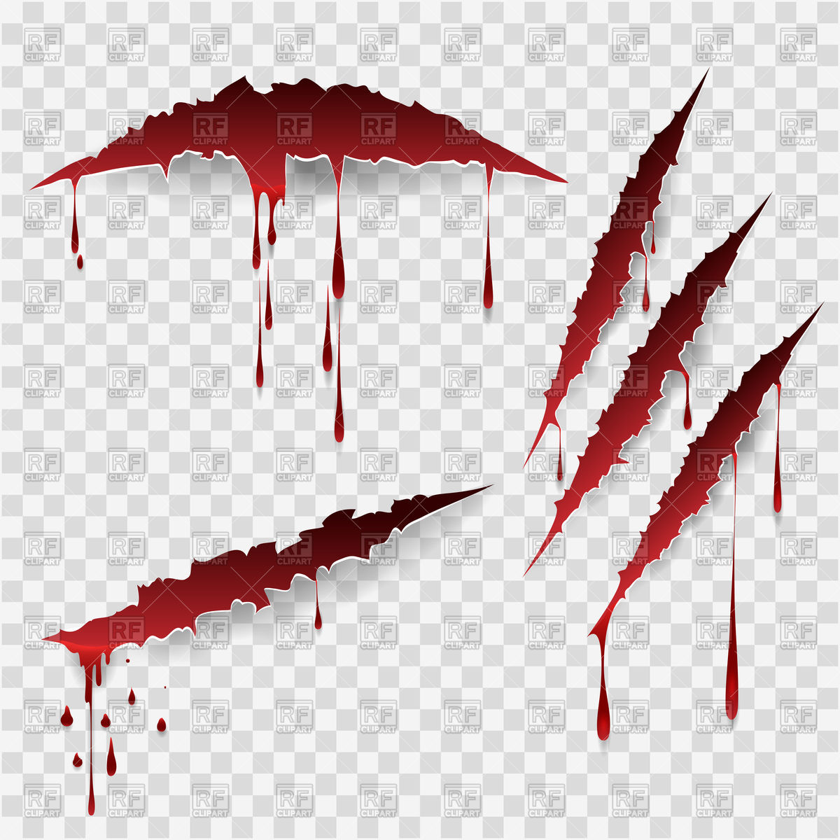 Bloody scratches Royalty Free Vector Clip Art