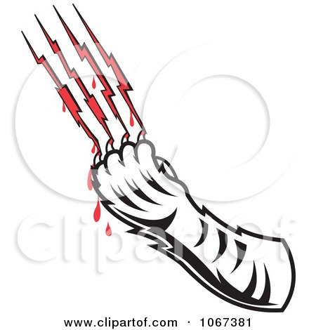 Clipart Tiger Drawing Blood From Scratches - Royalty Free Vector  Illustration by Andy Nortnik