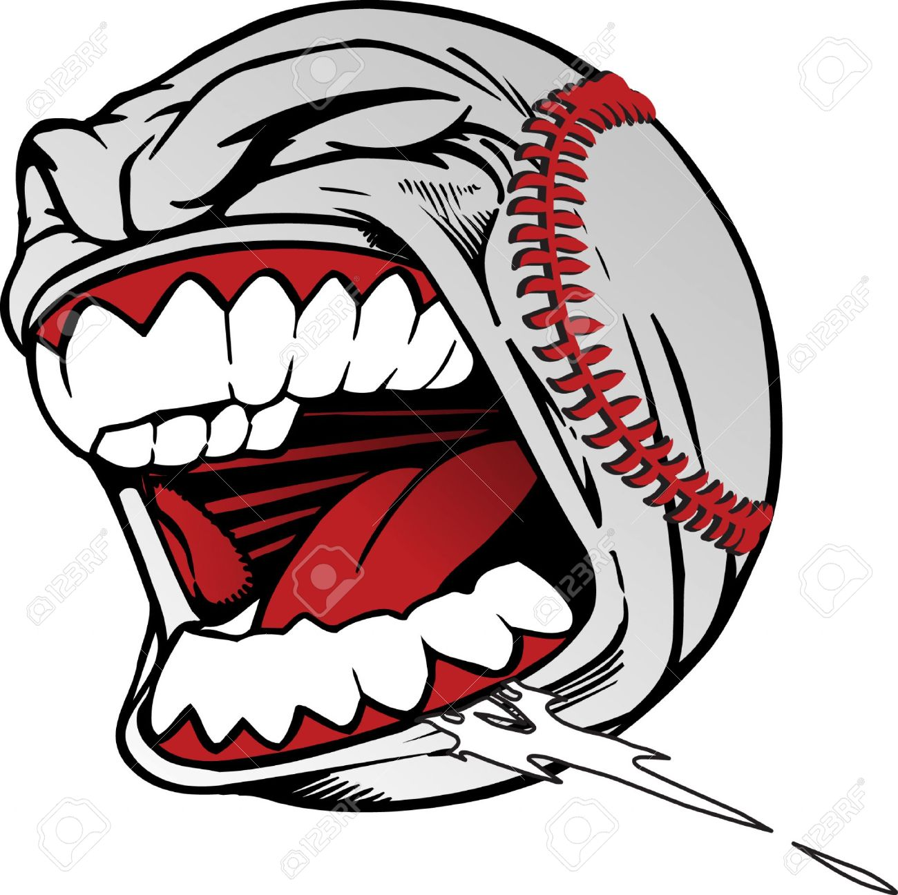Screaming baseball clipart