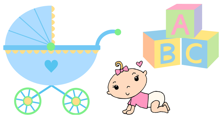 Screenshot of baby clip art from Sweet Clip Art