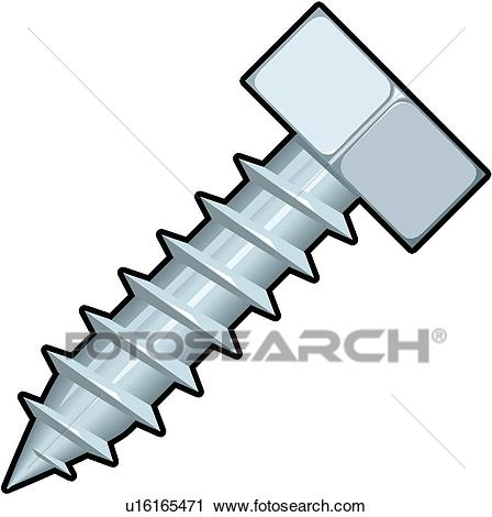 Clipart - Sheet Metal Screw . Fotosearch - Search Clip Art, Illustration  Murals, Drawings