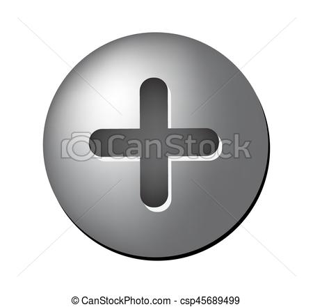 Screw Head Vector Symbol Icon Design.