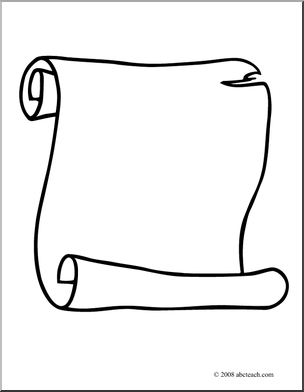 Scroll clip art 4
