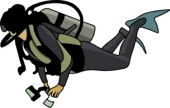 Scuba Diver Clipart Size: 50 Kb