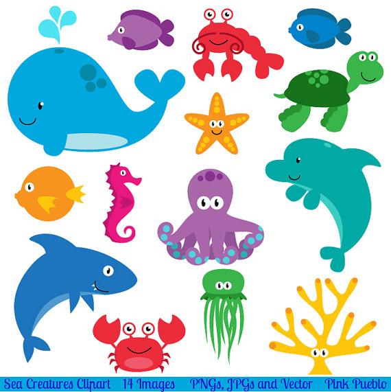 Sea Animals Clip Art Clipart Sea Creatur-Sea Animals Clip Art Clipart Sea Creatures Clip Art Clipart-11