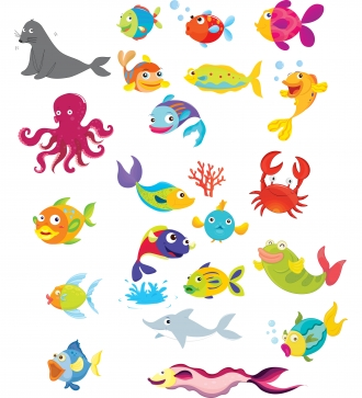 Sea Animals Clipart - Clipart .
