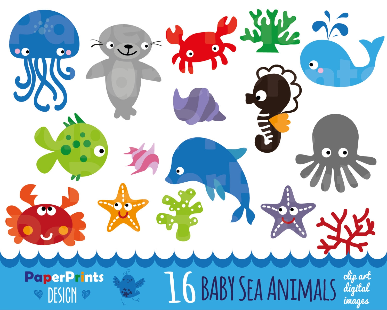 Ocean Animal Clip Art Clipart