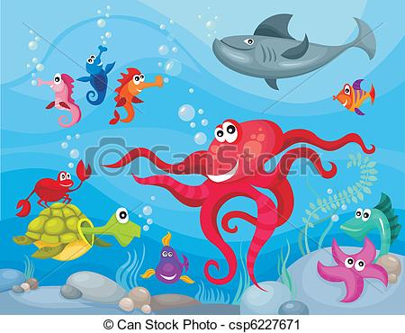 ... Sea Life - Vector Illustration Of A -... sea life - vector illustration of a sea life-16