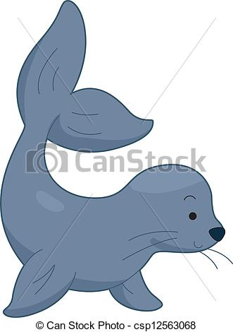 ... Sea Lion - Illustration of a Sea Lion
