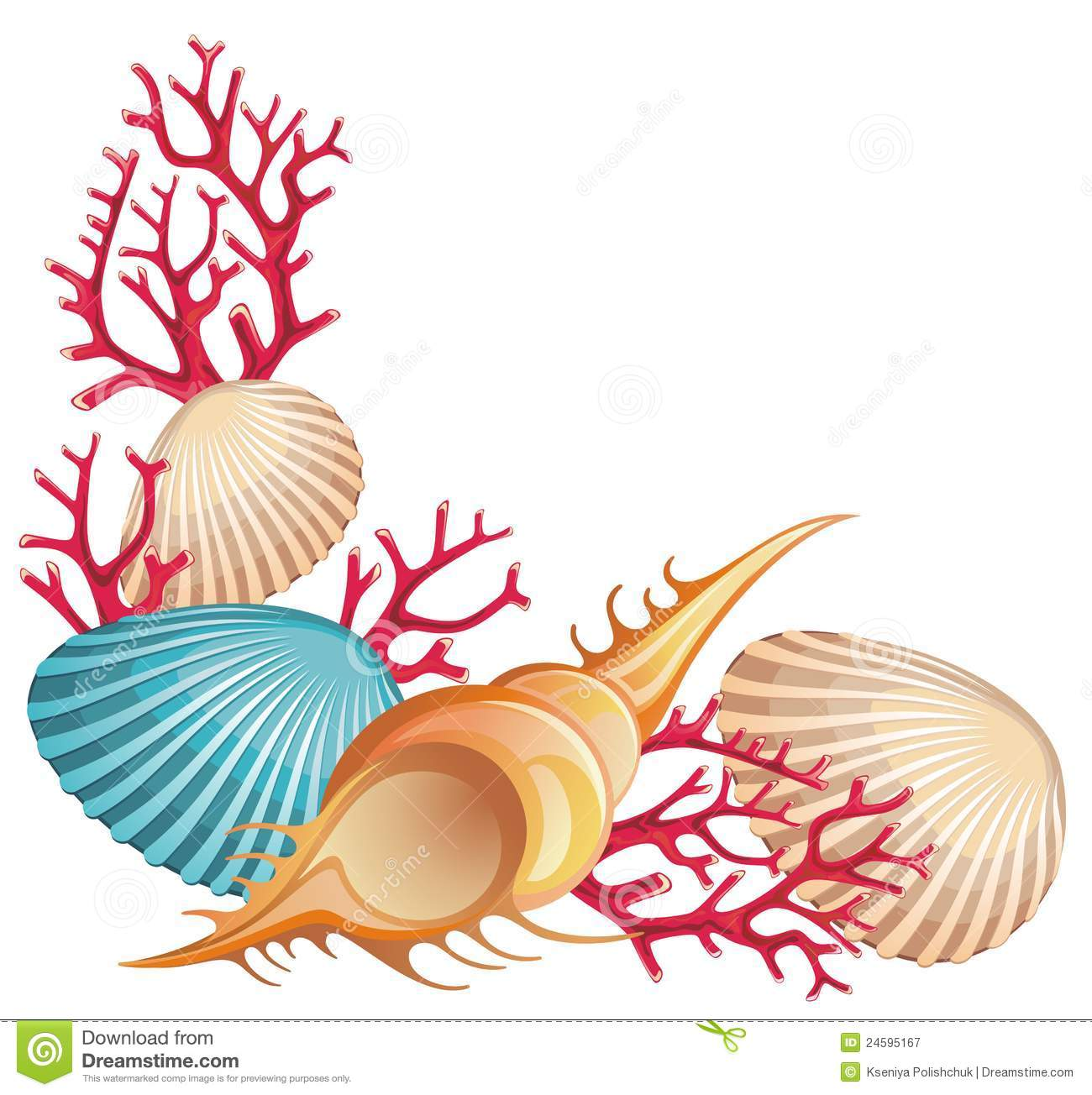 Sea shells clipart free - ClipartFest