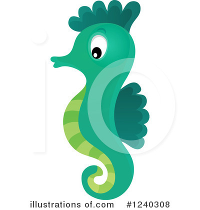 Seahorse Clipart #1240308 - Illustration by visekart