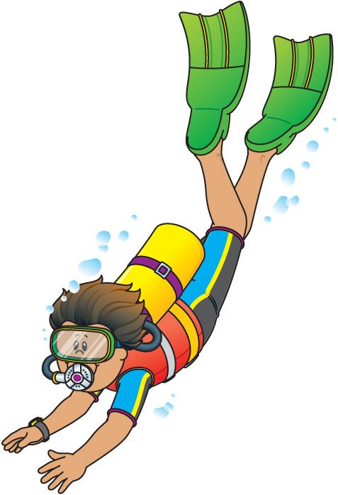 Scuba Diver Clipart Size: 50