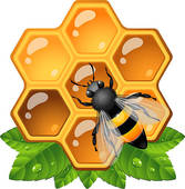 Seamless black honeycomb pattern over white u0026middot; Bee on honeycomb