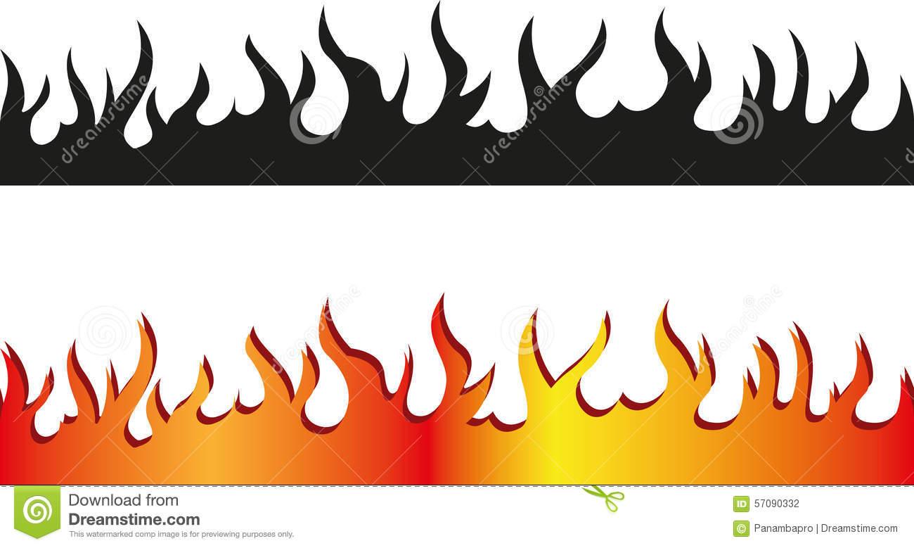 Seamless flame border