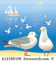 Seascape with seagulls-Seascape with seagulls-8