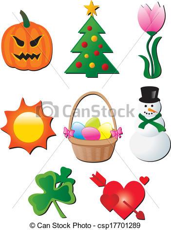 Seasonal Sales Posters Clip Artby Marish-Seasonal sales posters Clip Artby marish3/625; seasonal holiday elements cartoon vector-14