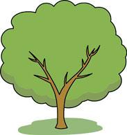 seasonal tree green summer clipart. Size: 57 Kb