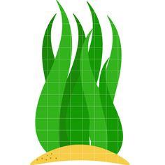 Seaweed Plant - Quarter Clipart