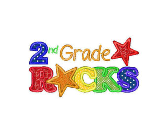 Second Grade Clip Art Free Buy 3 Get 1 Free Embroidery