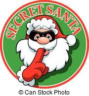 ... Secret Santa - A vector illustration of a Secret Santa logo.