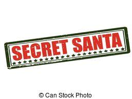 ... Secret Santa - Rubber stamp with text secret Santa inside,.