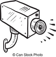 ... Security camera sketch - Doodle style security or... Security camera sketch Clip Artby ...