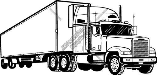 Semi Truck Drawings   Semi1 Clipart And -semi truck drawings   Semi1 Clipart and Vectorart: Vehicles - Semi Trucks Vectorart and ...   drawing ideas   Pinterest   Semi trucks, Trucks and Art-8
