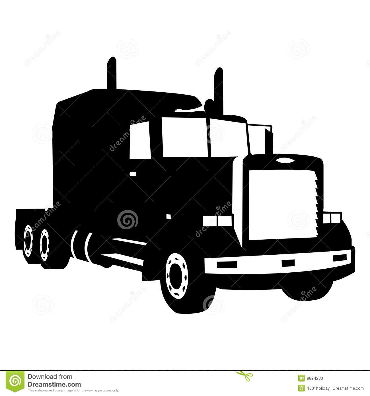 Semi Truck Silhouette Clipart .-Semi Truck Silhouette Clipart .-10