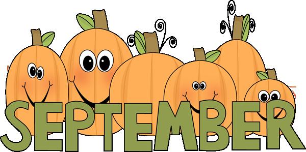 September Pumpkins - September Images Clip Art