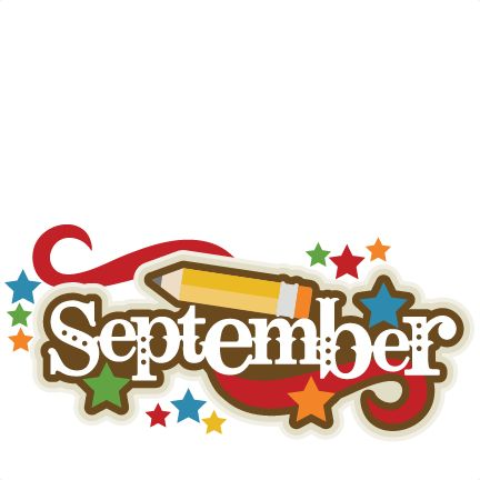 September Title SVG scrapbook .