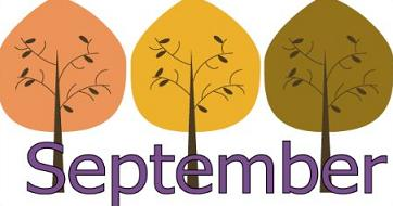 September with artistic trees
