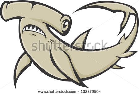 Serious Hammerhead Shark Illustration-Serious Hammerhead Shark Illustration-14