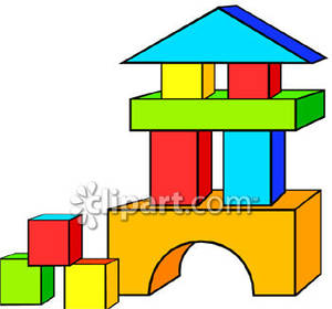 Set Of Colorful Wooden Blocks Royalty Free Clipart Picture