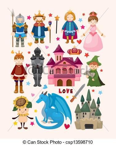 set of fairy tale element .