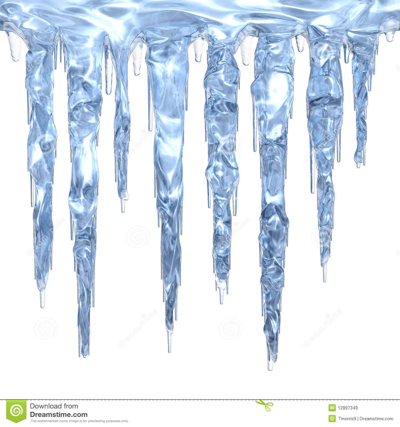 Set Of Light Blue Clean Icicles Dripping-Set Of Light Blue Clean Icicles Dripping Down Isolated On White-15