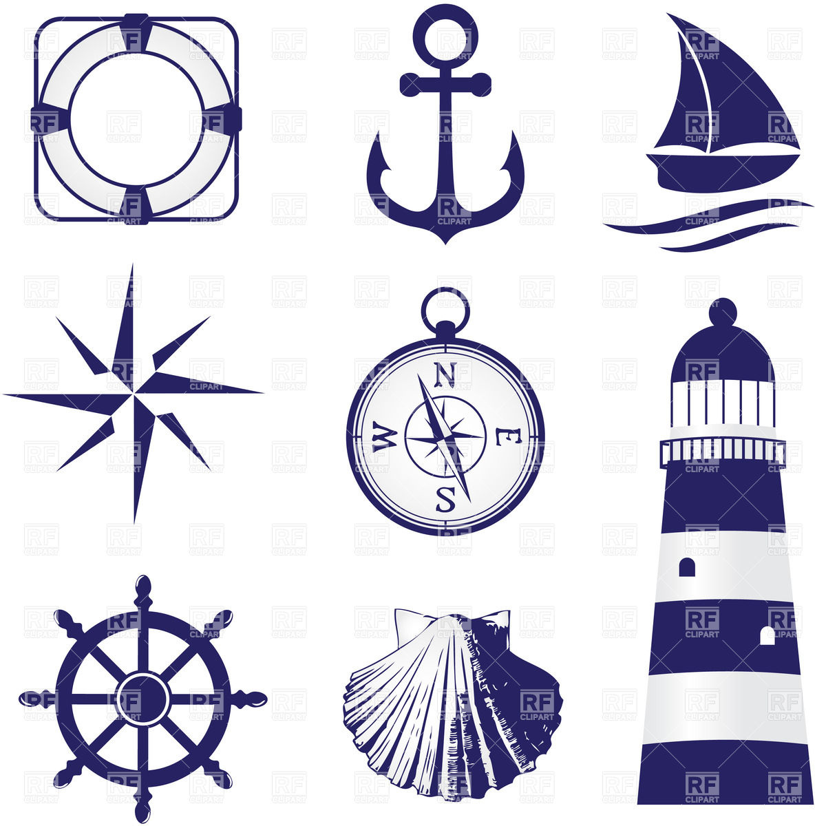 Set Of Vintage Nautical Labels Icons And Design Elements Download