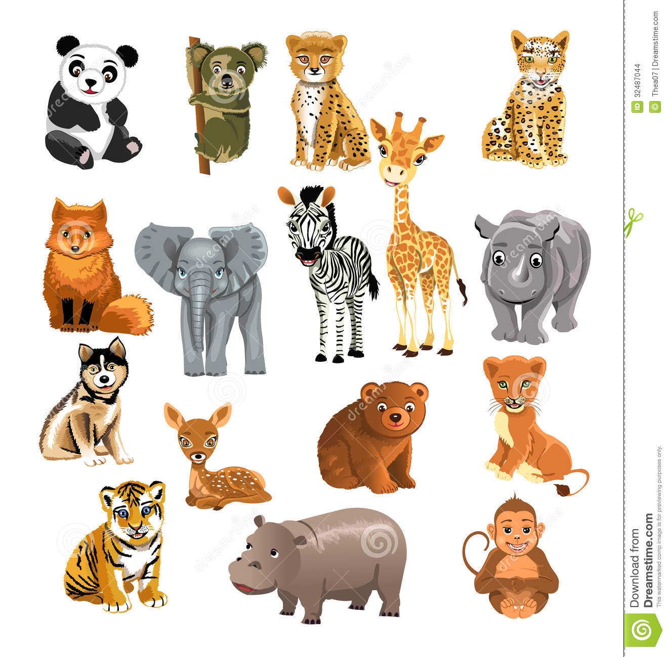 Free clipart of zoo animals .