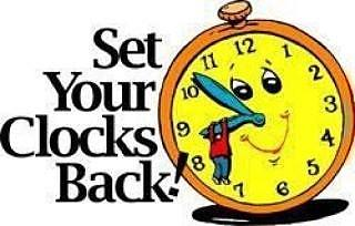 Set Your Clocks Back Daylight Saving Time Ends Clipart