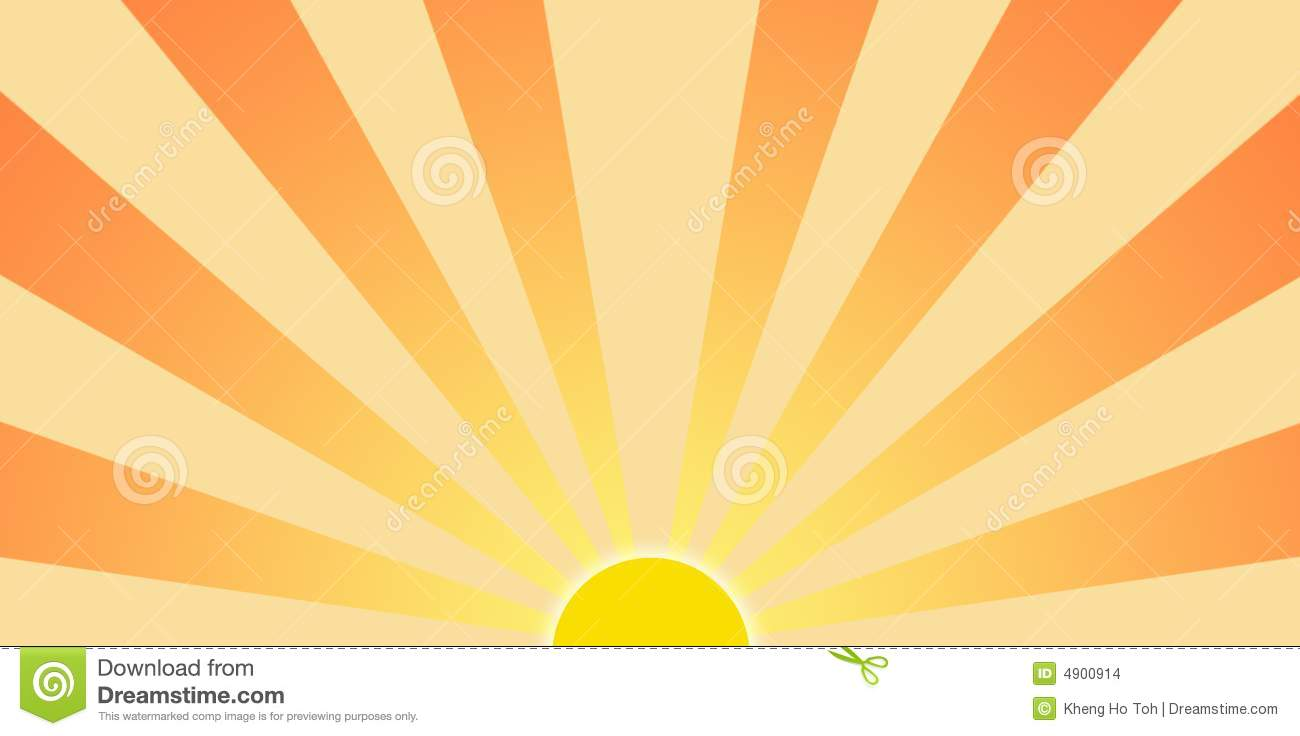 Setting Sun Graphic Clip Art Stock Images