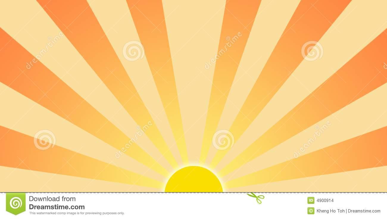 Setting Sun Graphic Clip Art  - Sun Rays Clip Art