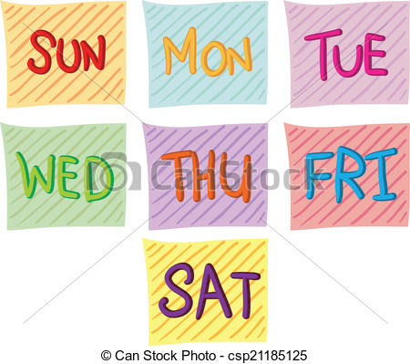 ... Seven days of the week ...-... Seven days of the week ...-17
