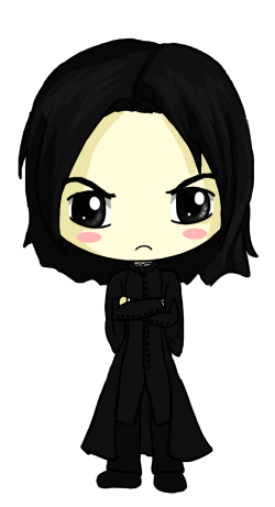 AngieVX 63 48 Snape Chibi by IcyPanther1