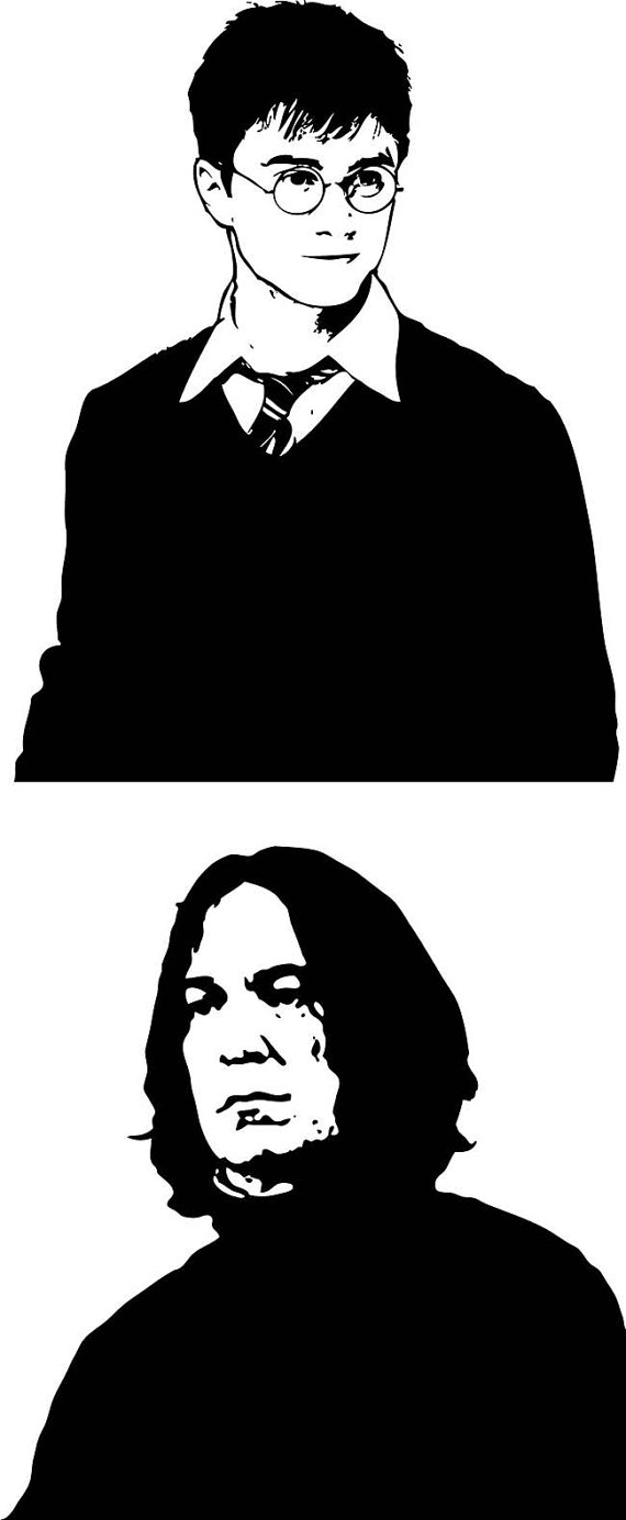 Harry Potter and Severus Snape, Digital Clipart, Clipart Design Elements,  Instant Download,