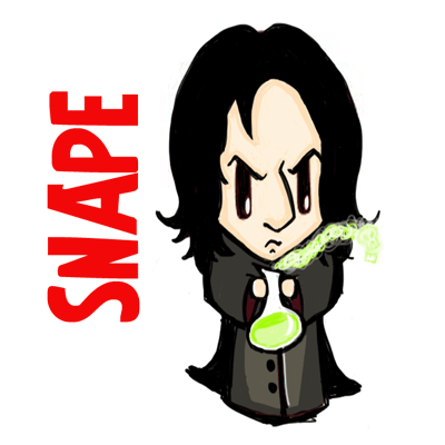 How to Draw Cute Chibi Severus Snape with Simple Step by Step Drawing  Tutorial