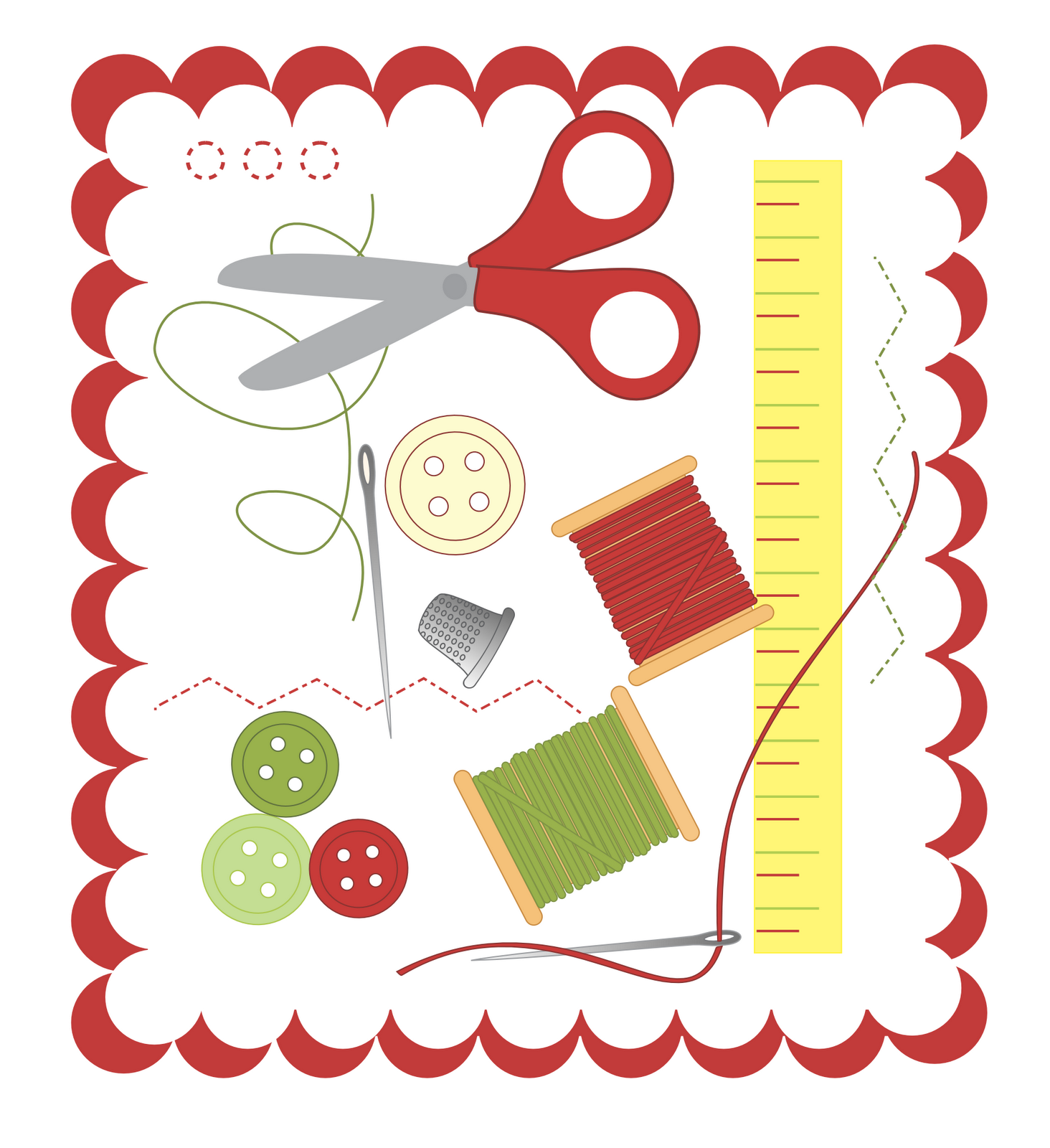 Sewing Clipart Free