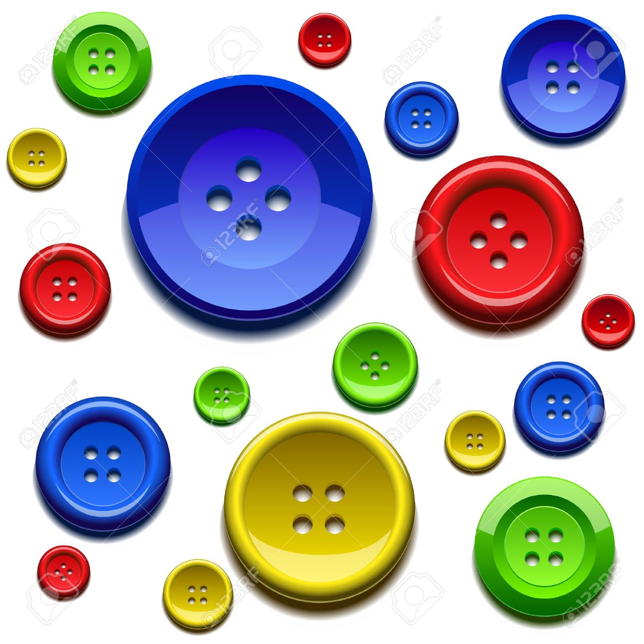Sewing Color Buttons Stock .-sewing color buttons Stock .-18