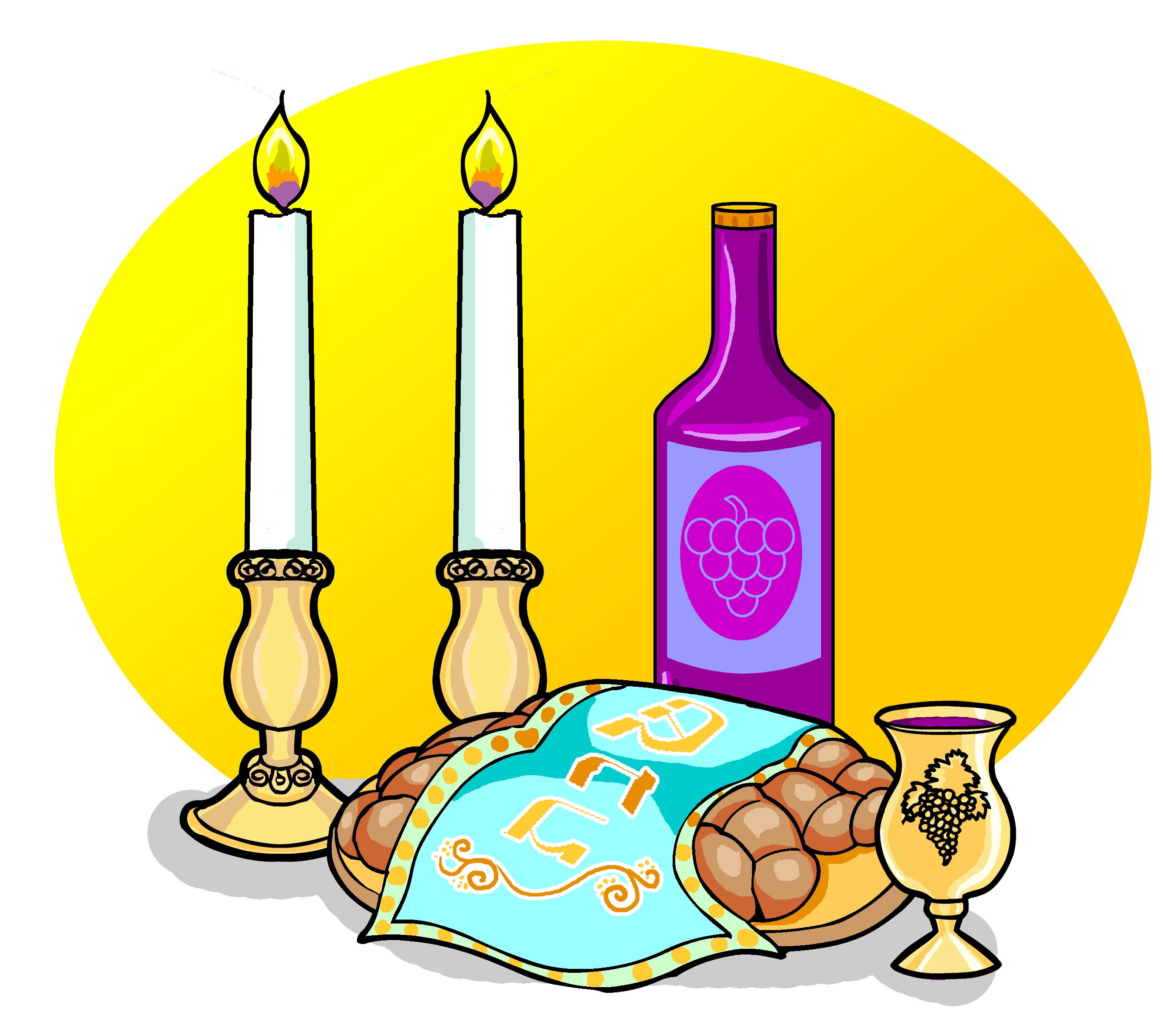 Shabbat Candles Clipart Shabbat Items Wi-Shabbat Candles Clipart Shabbat Items With Background-5