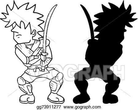 Shadow Warrior Clipart cartoon